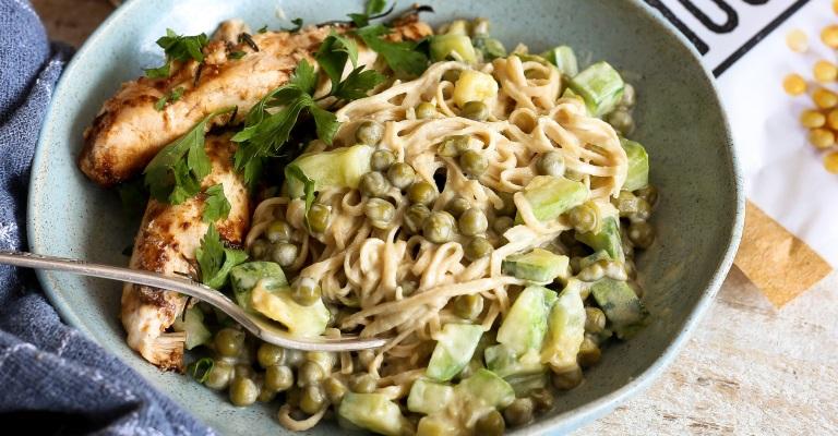 Espaguete de soja, ideal para pessoas fitness e práticas