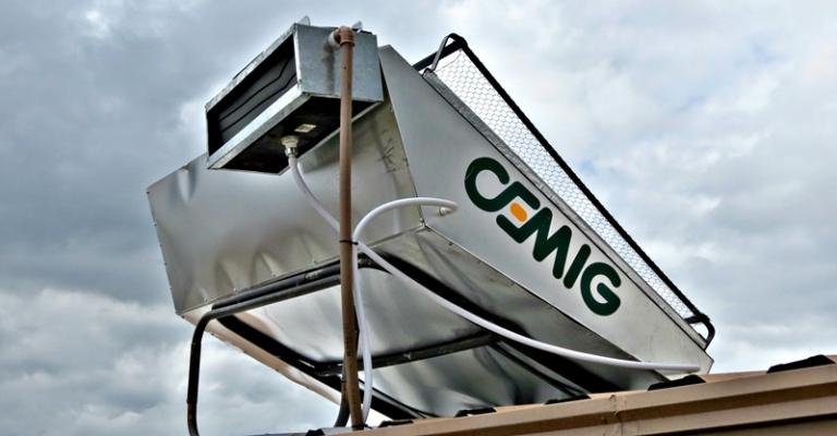 Cemig testa nova tecnologia de aquecedores solares