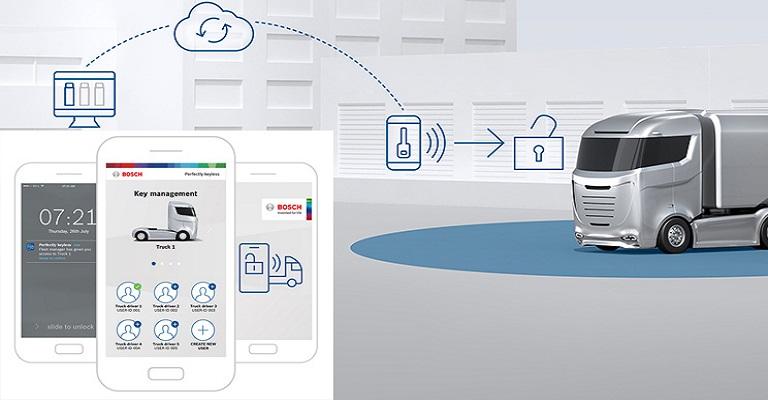 Bosch vai lançar chave digital para frotas de caminhões