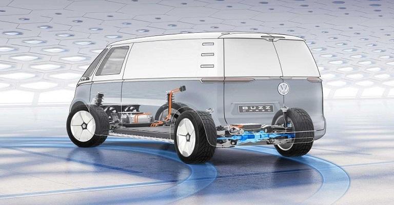 Van elétrica da Volkswagen remete à Kombi do futuro