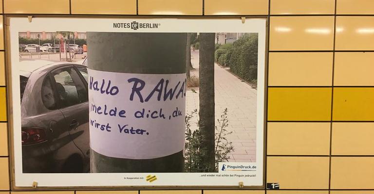 Berlim, a cidade dos recadinhos públicos