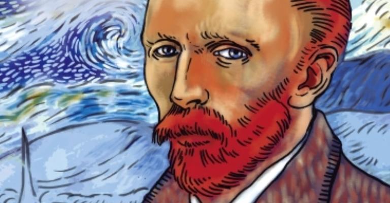 Quadrinho apresenta a vida e a obra de Vicent van Gogh