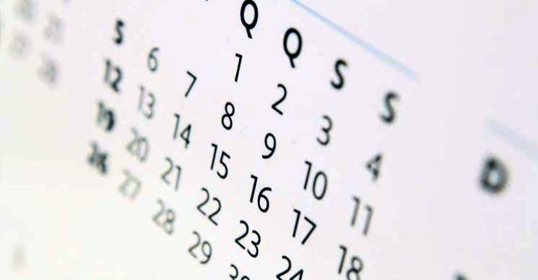 Número de feriados em dias úteis cresce em 2020