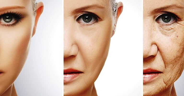 Envelhecimento da pele em três fases