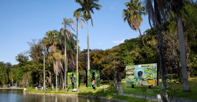 Exposição fotográfica ocupa o Parque Municipal de BH