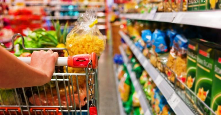 Vendas nos supermercados cresceram 1,25% em 2017