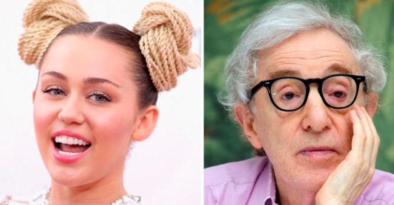 Cantora Miley Cyrus ganha elogios de Woody Allen