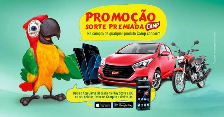 """GB lança promoção """"Sorte Premiada Camp"""""""