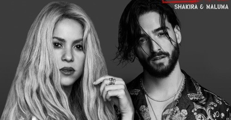 "Shakira e Maluma apresentam ""Clandestino"""