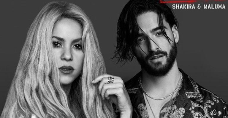 Shakira faz parceria com Maluma em novo single