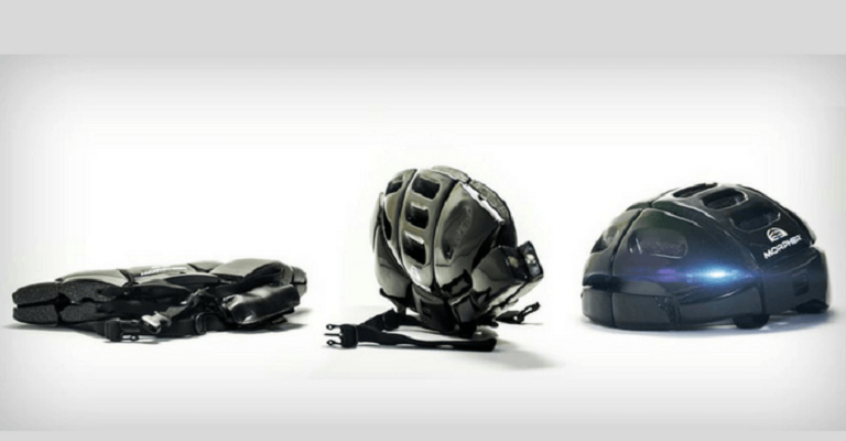 Brasil desenvolve capacete dobrável que cabe na bolsa