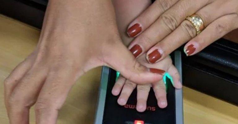 Biometria é usada registrar bebês em maternidade