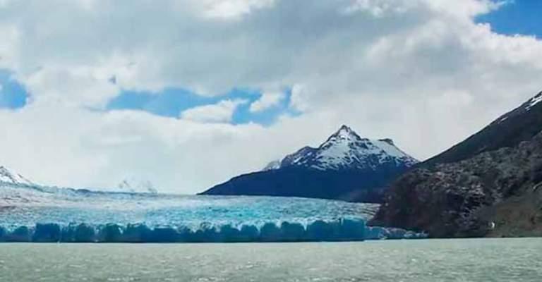 Campo de gelo na Patagônia é rompido por mudanças climáticas