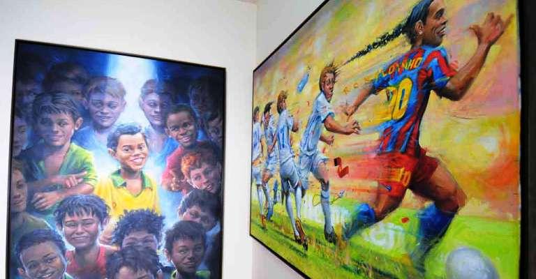 Ronaldinho Gaúcho vira tema de exposição no Mineirão