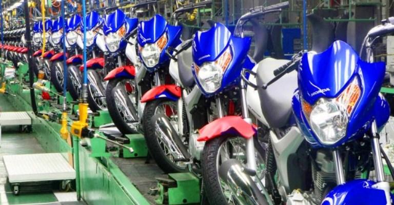 Produção de motocicletas aumenta 15,1% em setembro