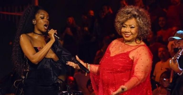 Iza e Alcione gravam faixa exclusiva para Rock in Rio
