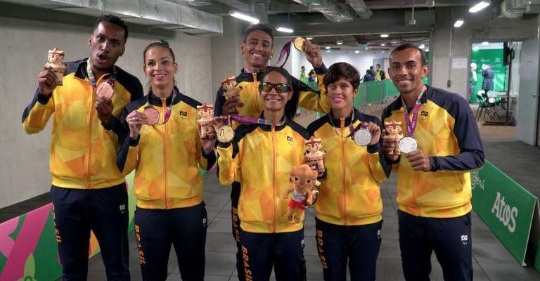 Brasil bate recorde histórico com 308 medalhas no Parapan de Lima