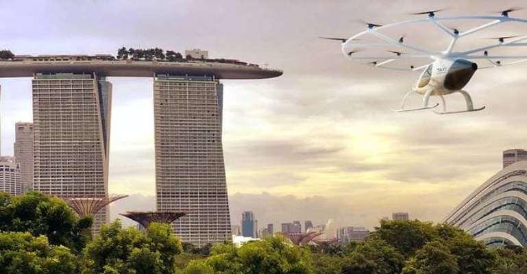 Táxi aéreo autônomo faz primeiros testes em Singapura
