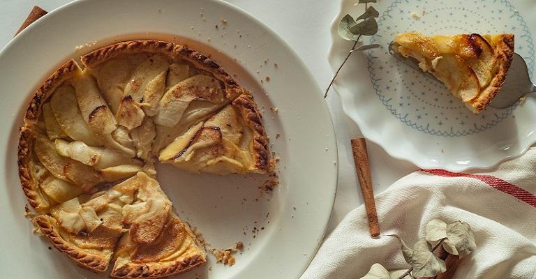 Uma torta de abacaxi bem saudável