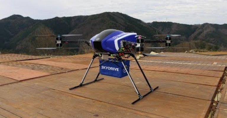 Japão testa drone capaz de transportar cargas pesadas