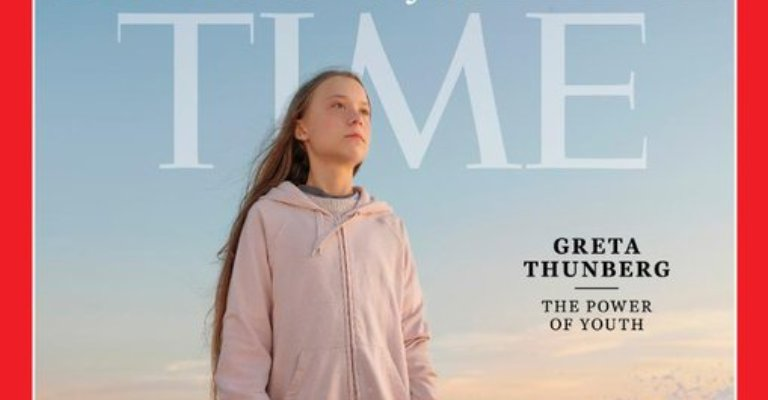 Greta Thunberg é escolhida a 'Pessoa do ano' pela revista Time
