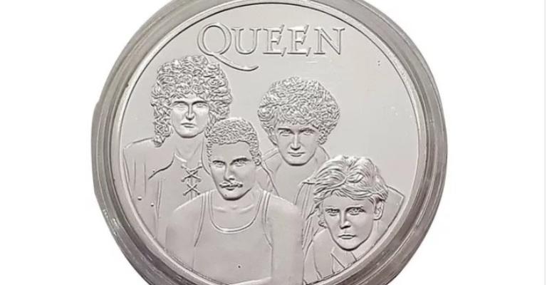 Moeda comemorativa homenageia grupo Queen