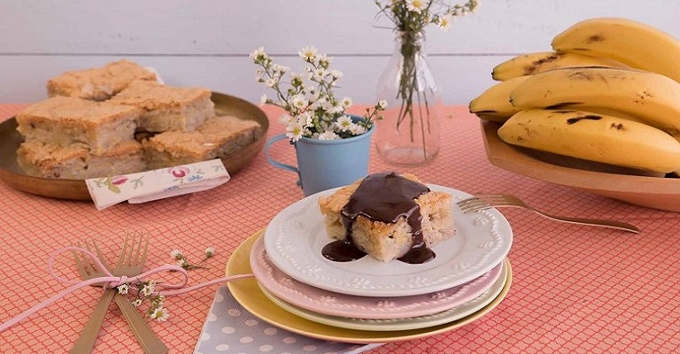 Torta de Banana é opção prática e econômica para o café da manhã ou da tarde