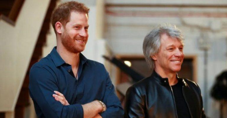 Bon Jovi e príncipe Harry lançam música beneficente