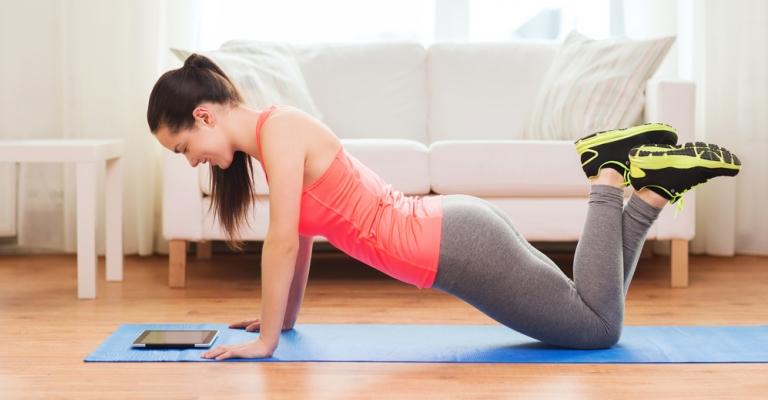Startup oferece guia de exercícios para fazer em casa