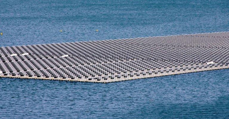 Ásia supera Europa na geração de energia solar flutuante