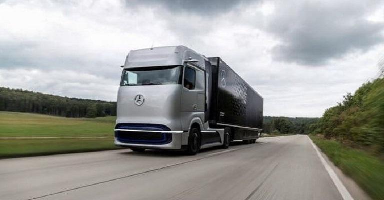 O caminhão movido a célula de combustível da Mercedes-Benz
