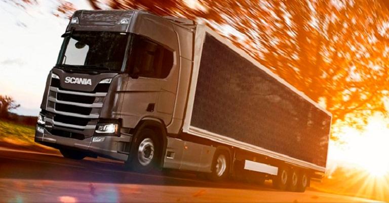 Scania desenvolve caminhão com caçamba solar