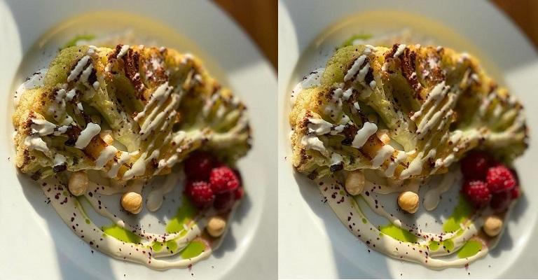 Uma receita deliciosa de couve-flor com creme de castanhas
