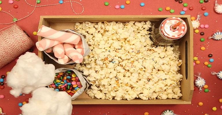Guloseimas para comer na sessão cinema em casa