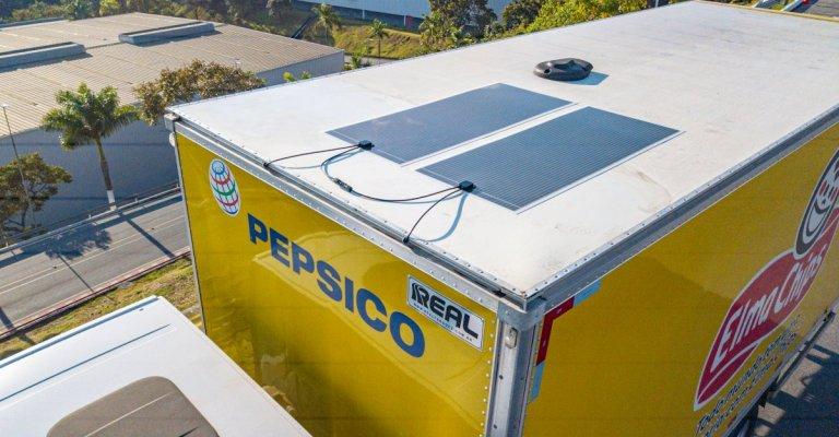 PepsiCo estreia uso de tecnologia de energia solar nos caminhões